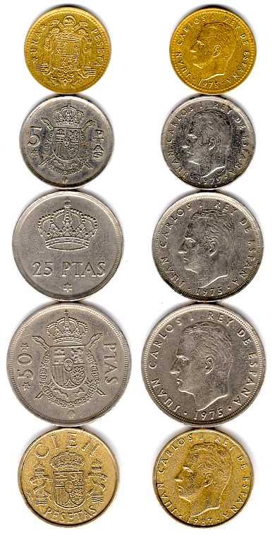 Монеты испании фото хронология выпуска юбилейных монет